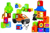 Toys Bhoomi Alphabet Learning Building Block Set - 46 Pieces (Multicolor)