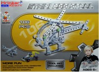 Hrinkar Aolida Metal Helicopter Construction Set 3D Stainless Steel Puzzle 106 Pcs (Multicolor)