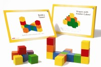 Edx Education Wooden Cubes Activity Se (Red, Yellow, Green, Blue, Maroon, Orange)