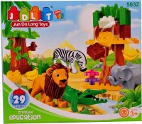 Mera Toy Shop Zoo Construction Blocks -29 Pieces (Multicolor)