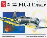 AMT USA 1/48 Scale Chance Vought F4U1 Corsair Plastic Model Kit (Multicolor)