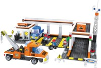 Funblox City Garage With Car, Mechanics And Tow Trucks (Multicolor)