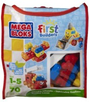 Mega Bloks First Builders Wacky Wheels (Bag), 6636, 70 Pieces (Multicolor)