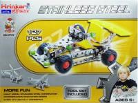 Hrinkar Aolida Metal F1 Car Construction Set 3D Stainless Steel Puzzle 127 Pcs (Multicolor)