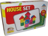 Parteet T Blocks House Set For Kids (Multicolor)