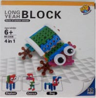 Long Yeah Imported Series Of Cartoon Animals Blocks-Ii (Multicolor)