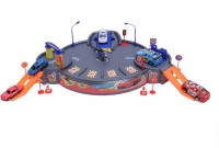 HAPPY KIDS Garage Playset With Cars And Helicopter (Multicolor)