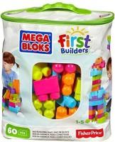 Mega Bloks First Builders Big Building Bag, 60-Piece (Trendy) (Multicolor)
