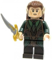 The Lord Of The Rings Lego Hobbit Loose Mini Mirkwood Elf With Sword (Black)