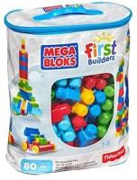 Mega Bloks First Builders Big Building Bag, 80-Piece (Classic) (Multicolor)