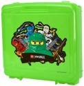Lego Ninjago Portable Storage Case - Green with Lloyd Garmadon Kai Jay Cole and Zane graphics