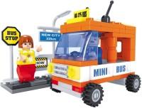 Fun Blox Cits Mini Bus Block Set (93Pcs) (Multicolor)