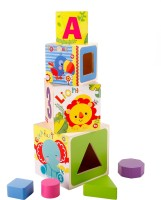Fisher-Price Shape Sorter Stacking Blocks (Multicolor)