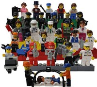 Smart Builder Toys A Set Of 30 Family And Community Figures & Over 40 Accessories Compatible With All Major Brands (Multicolor)