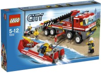 Lego City Set 7213 OffRoad Fire Truck & Fireboat (Multicolor)
