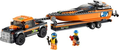 Lego 4x4 with Powerboat