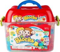 Walk Over Totally Toys Unique Design Blocks Bucket (Multicolor)