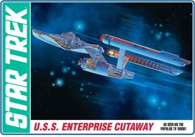 AMT Blocks & Building Sets AMT USA 1/537 Scale USS Enterprise Cutaway Plastic Model Kit