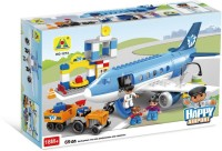 Toys Bhoomi Happy City Airport Block Building Set - 69 Pieces (Multicolor)