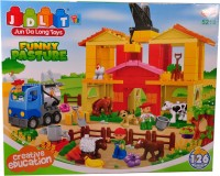 Mera Toy Shop Funny Pasture Block Construction Set (Multicolor)