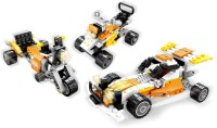 Funblox 3 In 1 Racing Car And Bike Block Set (Multicolor)