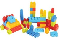 Mega Blocks Big Building Bag 80Pcs (Multicolor)