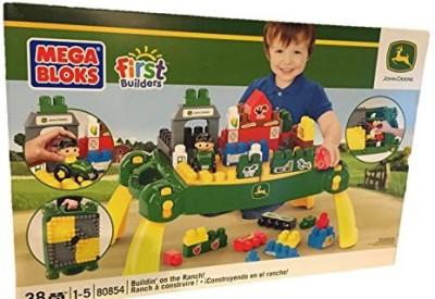 Mega Bloks Blocks & Building Sets Mega Bloks First Builders John Deere Table Set