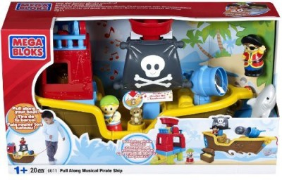 Mega Bloks Blocks & Building Sets Mega Bloks Pull Along Musical Pirate Ship
