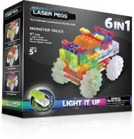 Laser Pegs 6-in-1 Monster Truck Building Set (Multicolor)