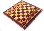 "Woodpedlar Board Games Woodpedlar 8"" Folding Chess Set With Coins Board Game"