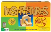 Ideal Instructures Wooden Block Construction Board Game