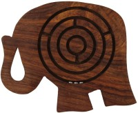 Crafts'man Handcrafted Labyrinth Wooden In Elephant Shape - 5 Inches Board Game