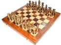StonKraft Collectible Wooden Folding Chess Game Board Set, Brass Staunton Figure Pieces Board Game - BDGDVREM5GGFZ5CH