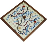 RoyaltyLane RLM-wooden_snake_and_ladder Board Game
