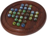 Crafts'man Board Games Crafts'man Wooden Solitaire Puzzles with Marbles Perfect KID Board Game