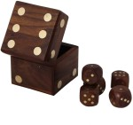 Crafts'man Board Games Crafts'man Handmade Wooden Dice Set 2.5 inches Board Game