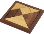 Crafts'man Board Games Crafts'man Handmade Wooden Tangram Puzzle Games for Children Unique Kids Gifts Board Game