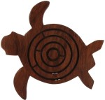 Craft Art India Board Games Craft Art India Handmade Wood Turtle Labyrinth Board Game