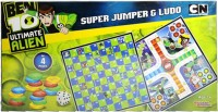 Sticker Bazaar Offically Licensed- Board Game Of Ben 10 Ultimate Super Jumper & Ludo Board Game