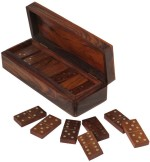 Craft Art India Board Games Craft Art India Wooden Domino Pieces Classic Board Game