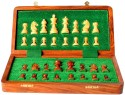StonKraft 10 Inch Collectible Wooden Folding Medium Chess Set, Wooden Magnetic Crafted Pieces Board Game - BDGDXY2U9KWQUUFT