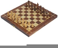 Craft Art India Wooden Folding Non-Magnetic Chess With Storage Of Pieces Set 10 X 10 Inches Board Game
