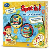 Asmodee Spot It 2In1 Jake And The Never Land Pirates Board Game