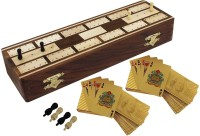 RoyaltyLane Large Unique Full Cribbage Board Set - 2 Decks Of Playing Cards Board Game