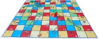 Atpata Funky 10x10 Ft Mat Snakes &Ladders & Dice 8inch (Jungle Theme) Board Game