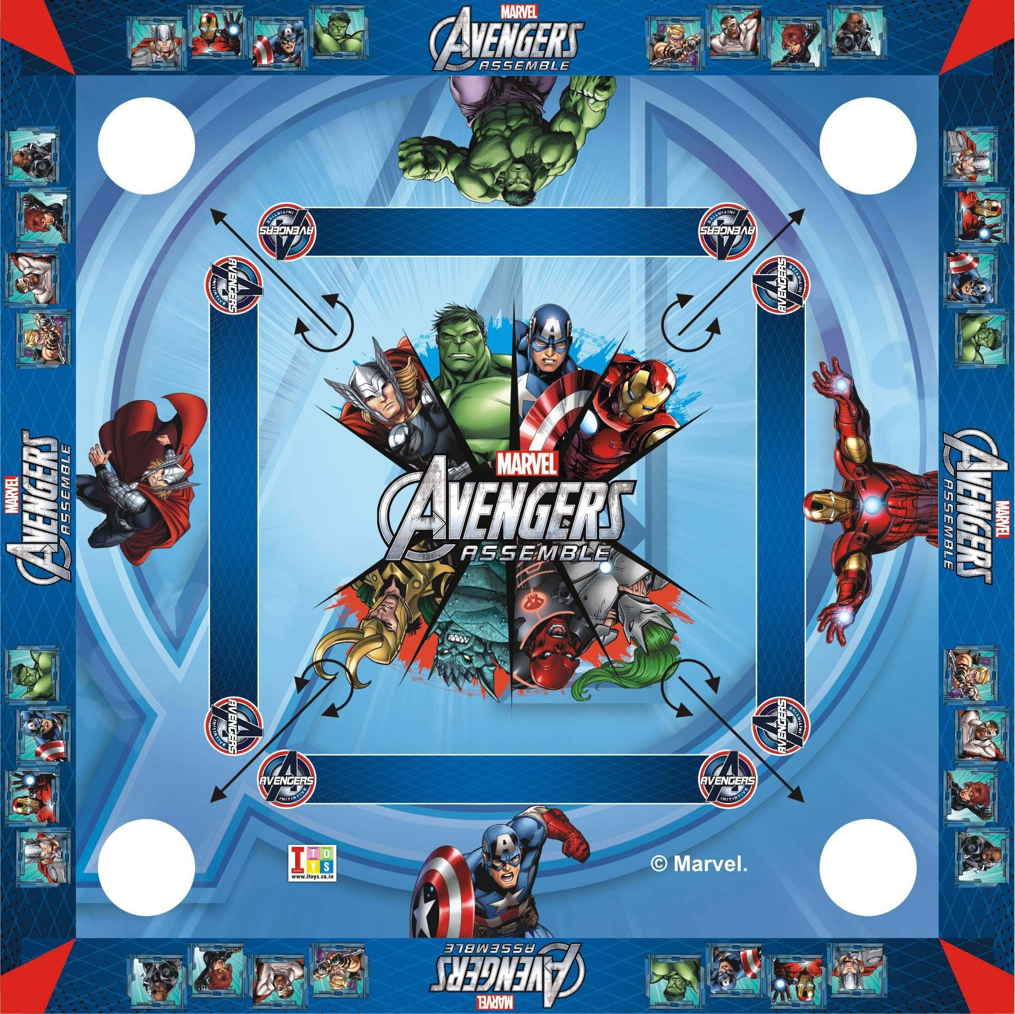 """Disney Avengers Carrom Board 20x20"""" inch Big Size Board Game available at Flipkart for Rs.699"""