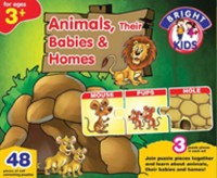 BPI Animals, Their Babies & Homes Board Game
