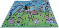Atpata Funky 5x5 Ft Mat Snakes&Ladders(Doraemon Theme) & Dice 8 Inch Board Game