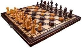 """Prime Chess Brand New Cherry Wooden Chess And Draughts Set 13,7"""" X 13,7"""" Board Game"""