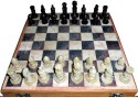 StonKraft Wooden Chess Game Board Set, Hand Crafted Stone Pieces Board Game